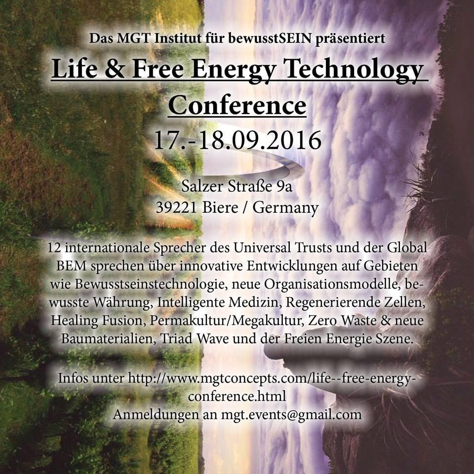 Magdeburg - 17.-18.09.2016 Institute for Consciousness